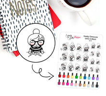 Geeky Gwennie Gets A Manicure Planner Sticker / G014