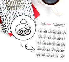 The Many Moods of Geeky Gwennie Planner Stickers / G015