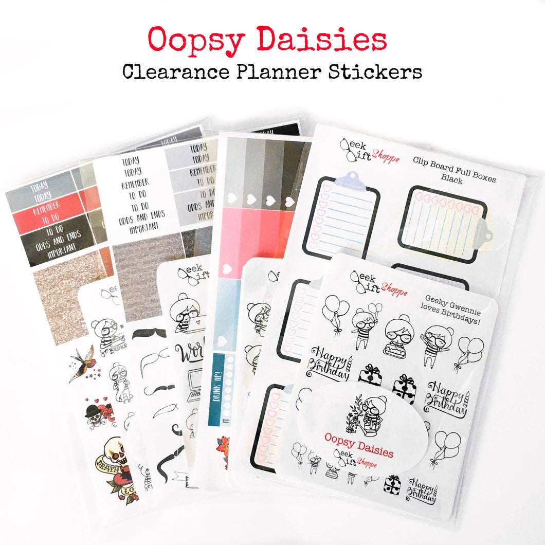 Oopsy Daisies Clearance Planner Sticker