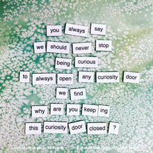 Stranger Things Magnetic Poetry