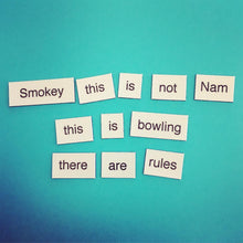 The Big Lebowski Magnetic Poetry