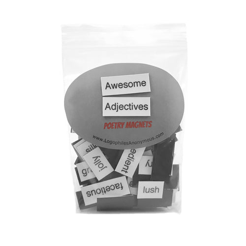 Awesome Adjectives Poetry Magnets