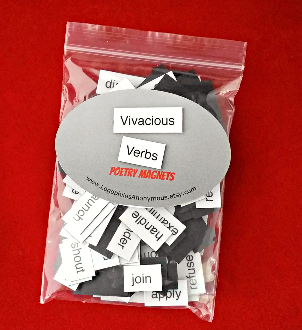 Vivacious Verbs Poetry Magnets