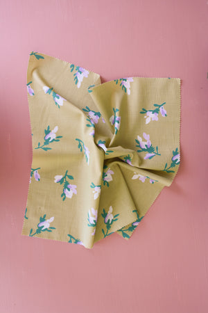 Aries - Printed Linen | Chartreuse
