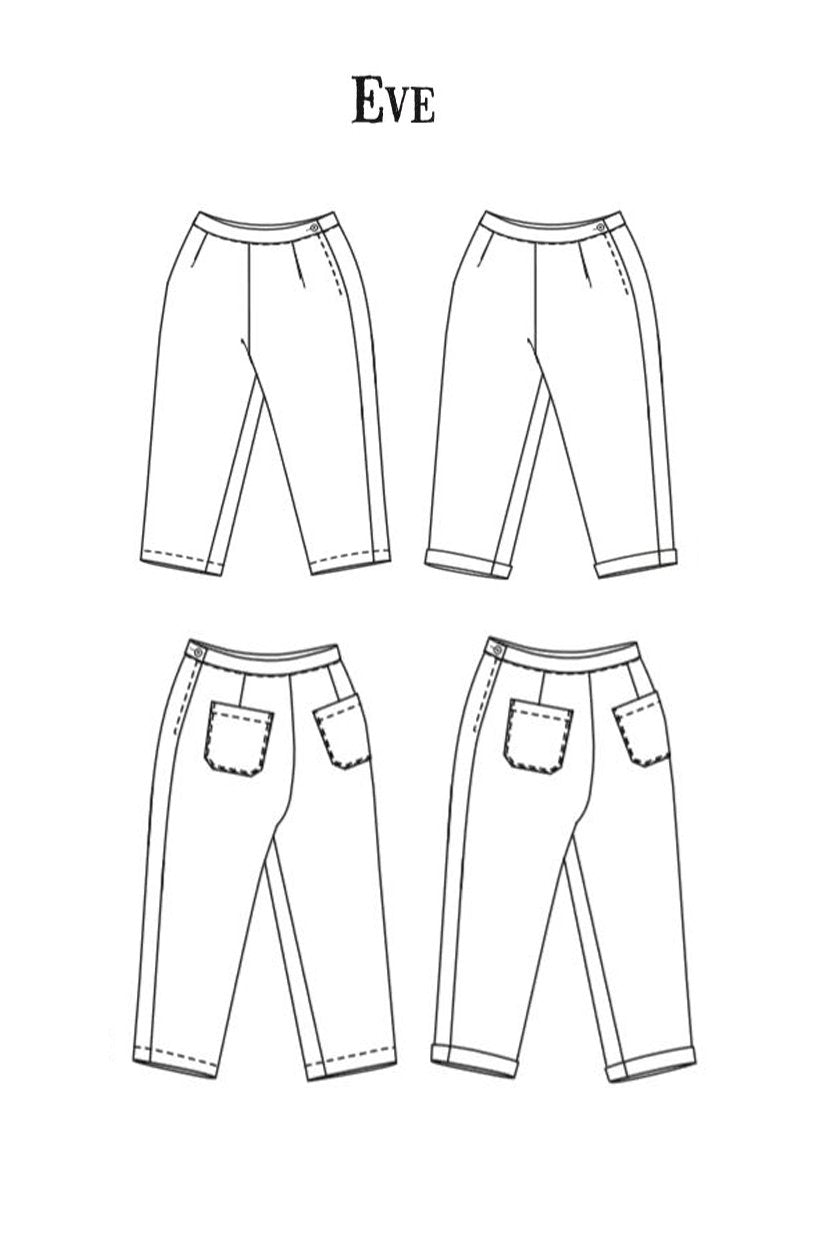 The Eve Trousers - Pattern