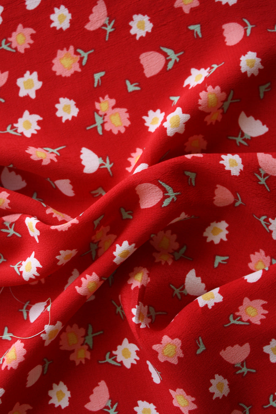Tulip - Printed Viscose Crepe | Red