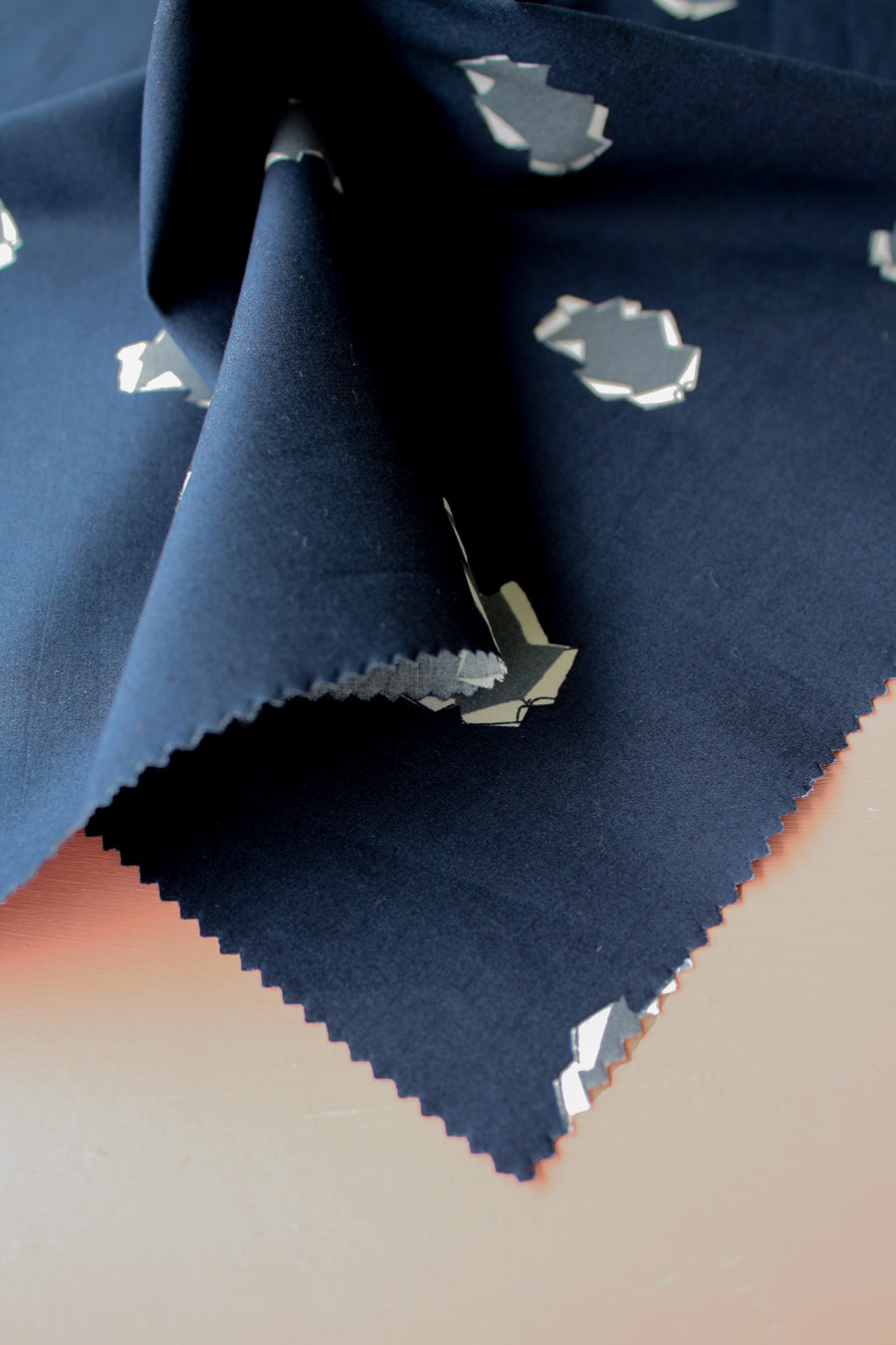 Tabac - Printed Cotton | Navy