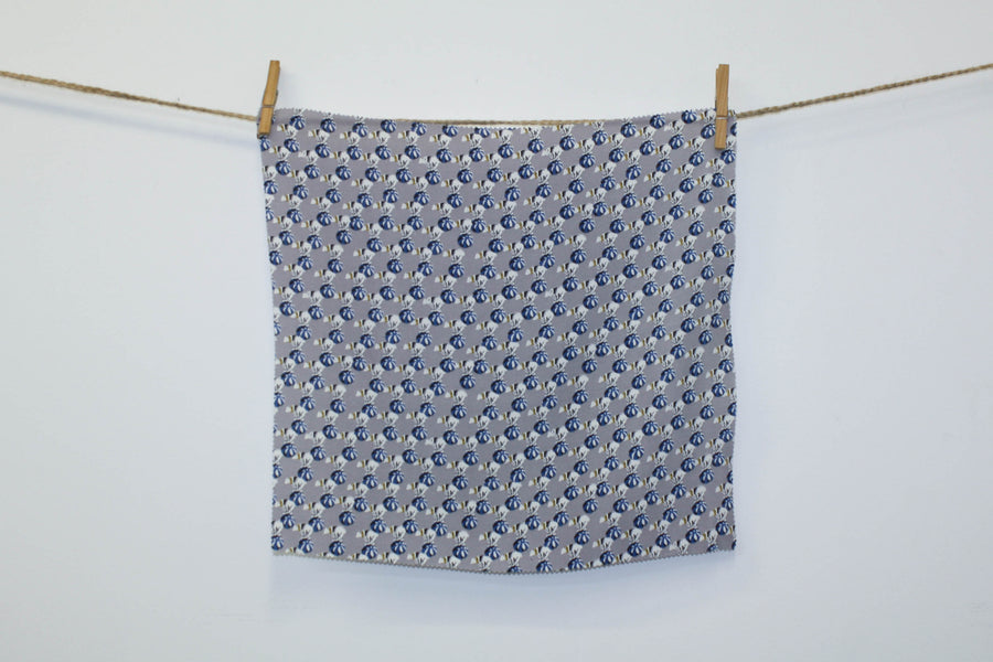 Duchamp - Printed Polyester | Blue