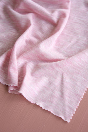Èze - Silk Tencel Knit | Chambray Pink
