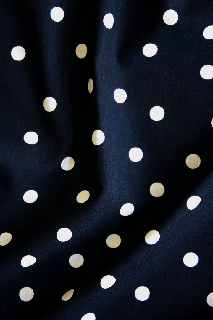 Gianna - Printed Linen | Navy