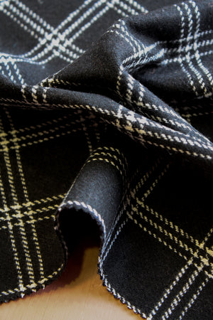 Paris Check - Wool Coating | Jet