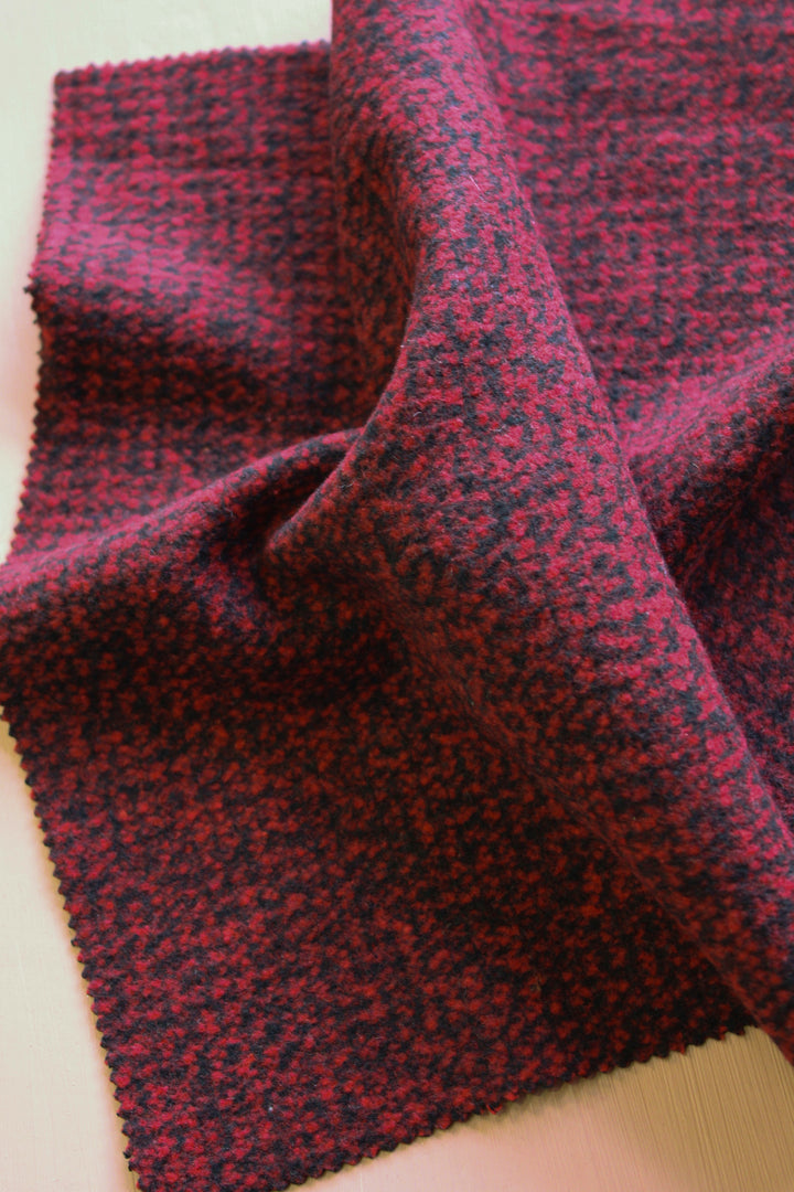 Raven - Wool Coating | Crimson