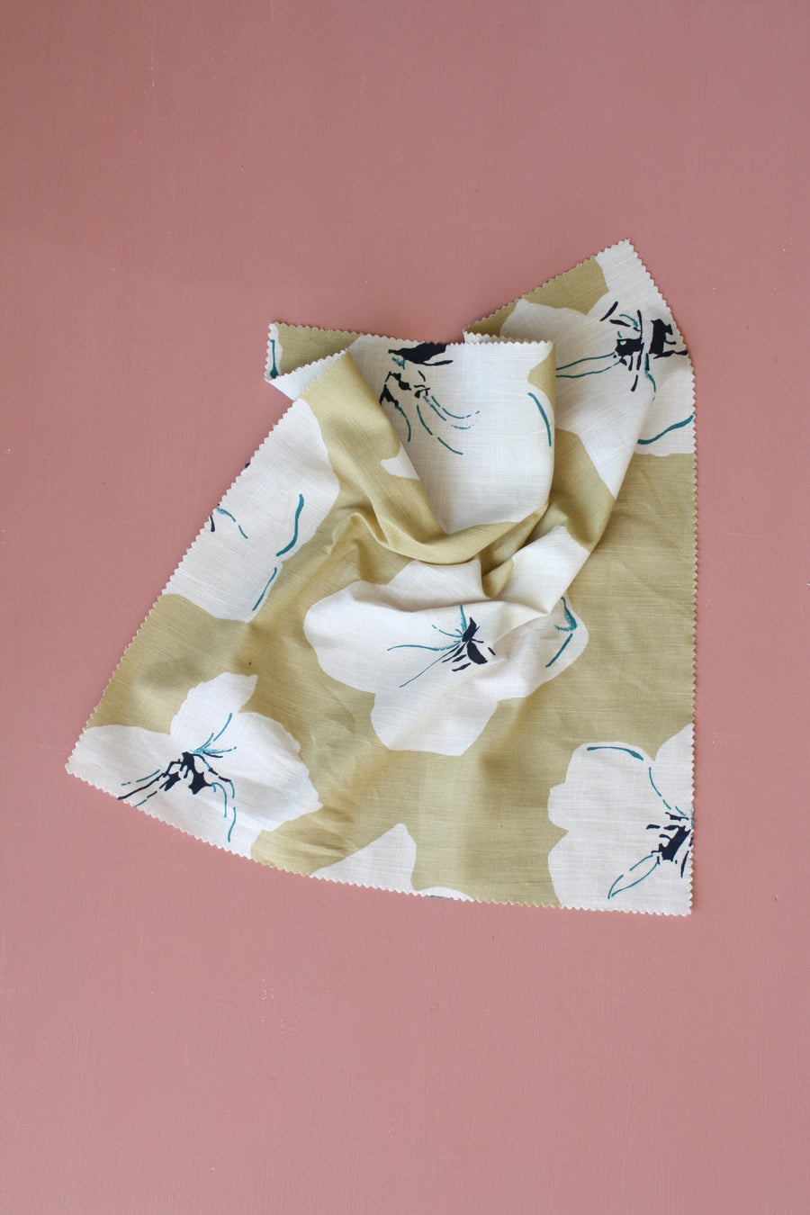 Cindy - Printed Linen | Olive