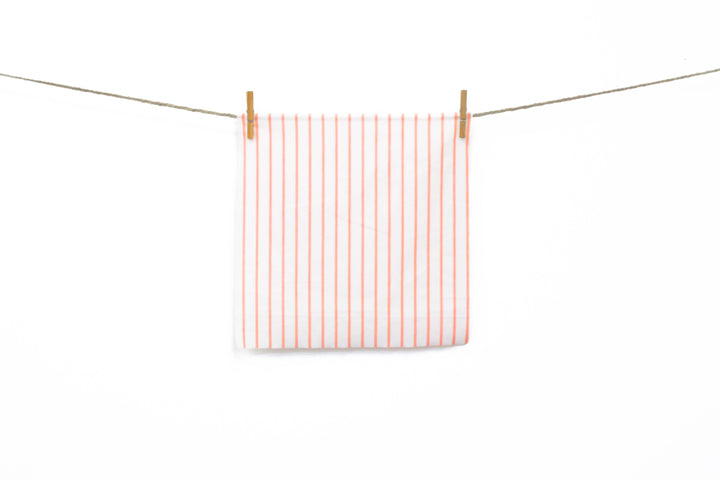 Amelie - Silk Cotton Stripe | Peach