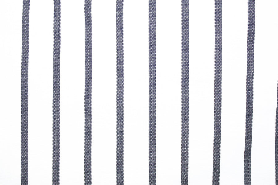 Amelie - Silk Cotton Stripe | Navy