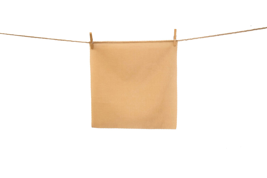 Elle - Camel - Plain Silk Cotton