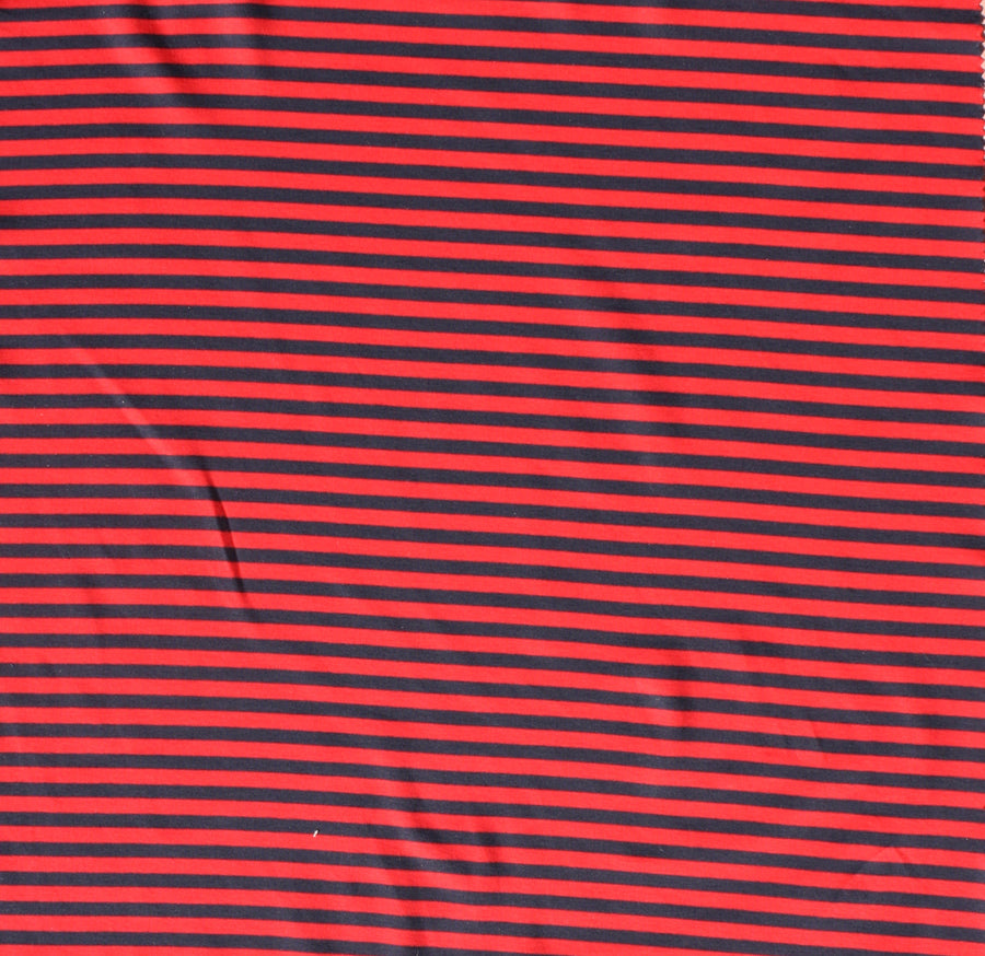 Nadia - Striped Cotton Knit | Rouge