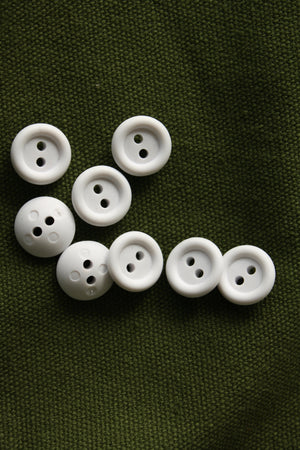 Rubber Buttons 15mm | Cool White