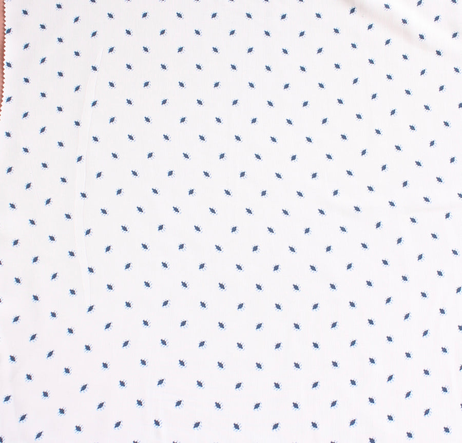 Palermo - Printed Viscose | White