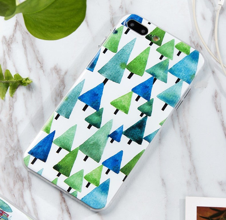 Pastel Pines iPhone 7 plus case