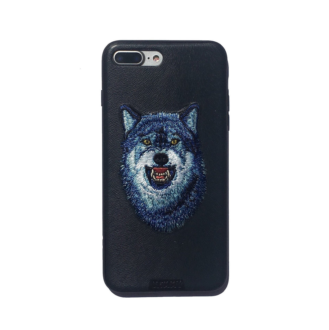 Embroidered Wolf iPhone 7 plus case
