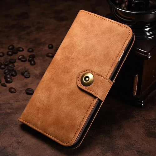 Light brown iPhone 7/8 wallet case with flip cover