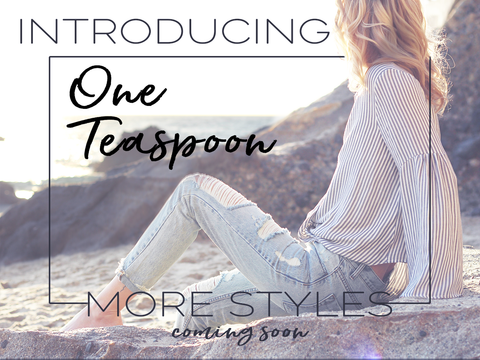 Introducing One Teaspoon! Current Styles includeOne Teaspoon Sailors Relaxed Fit Frayed Hem Denim Shorts in Fox Black and Teaspoon Awesome Baggies Straight Leg Jeans with Blue Hart Wash