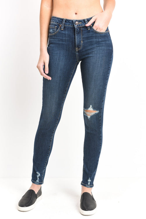 JUST BLACK DENIM Women's Mid Rise Distressed Skinny Jeans-Boho Chic. Free Shipping! 10% Off Your First Order! $62! Loving the fit of our JUST BLACK DENIM Women's Mid rise Distressed SKinny Jeans!!  With a little stretch, this denim knows just how to hug your body for a sexy comfy fit!