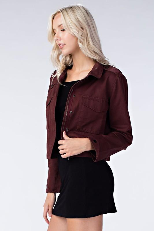 HONEY BELLE Cargo Jacket with Pockets-boho chic-asterivorystone-trends. Free Shipping! 10% Off your first order! $46! Stay warm and look good doing it! HONEY BELLE Cargo Jacket with Pockets compliments any outfit! A must have for any wardrobe! Boho Chic, trendy fashions for women!