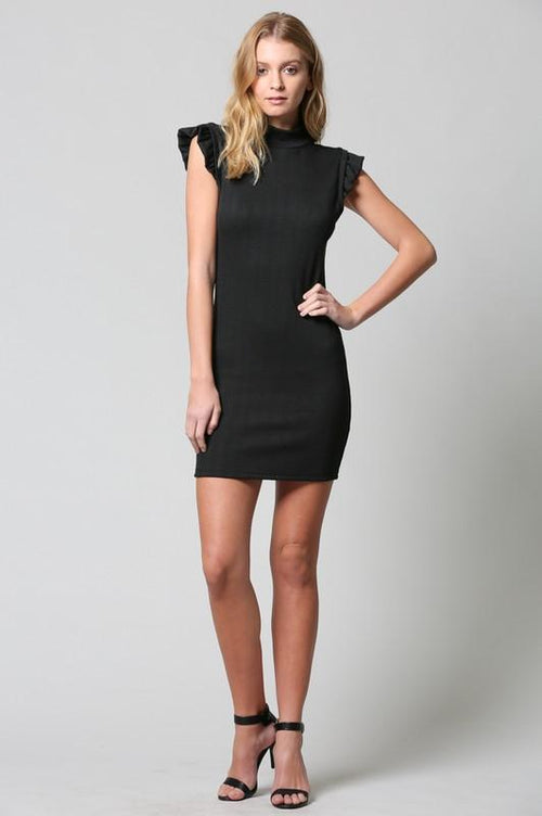 FATE Women's Ruffle Sleeve Knit Dress-Boho Chic-Trendy Women Styles. Free Shipping! 10% Off your first order! $38!This adorable little black dress  by FATE gets a charming revamp with its sweet ruffle sleeve detail. Its figure-flattering silhouette makes it a go to dress for a night out.  Pair with heels for a perfectly polished look!  Boho Chic, Trendy women's boutique