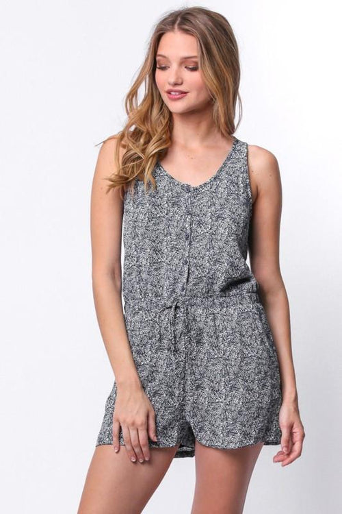 PAPER CRANE Women's Racer Back Button Up Romper-Boho Chic-Trendy. Free Shipping! 10% Off Your First Order!$19!  So simple yet SOOOO cute!! Loving our PAPER CRANE RACER BACK BUTTON ROMPER! Effortlessly Adorable! Boho Chic, Trendy Fashions For Women!