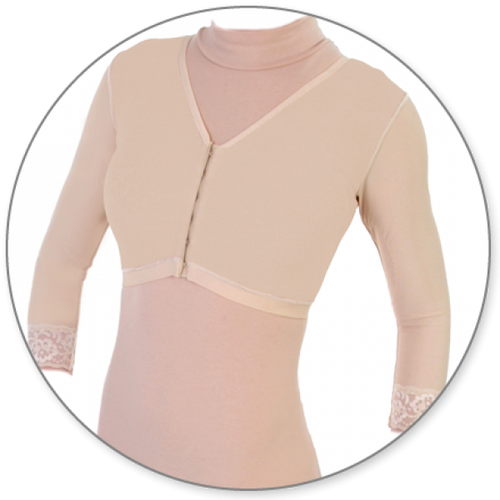 Contour MD Bra with Sleeves - Style 24B-Bra with Sleeves-Contour MD-Beige-XS-PlasticSurgeryShop