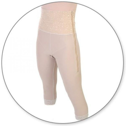 Contour MD Mid Calf Girdle 6-Inch with Slit Crotch - Style 26SC-Mid Calf Girdle-Contour MD-Beige-S-PlasticSurgeryShop