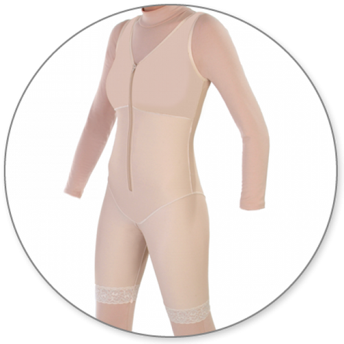 Contour MD Mid Thigh Body Shaper Slit Crotch - Style 27-Mid Thigh Body Shaper-Contour MD-Beige-XS-PlasticSurgeryShop