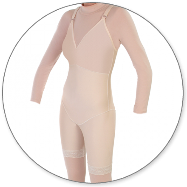 Contour MD Mid Thigh Shaper Bra Top No Zip - Style 27BNZ-Mid Thigh Body Shaper-Contour MD-Beige-XS-PlasticSurgeryShop