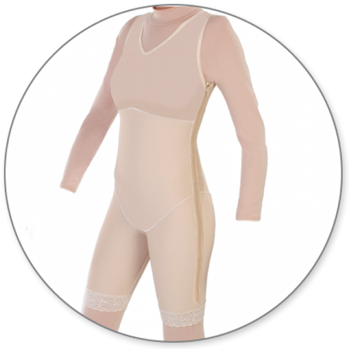 Contour MD Mid Thigh Shaper Full Side Zip - Style 27FLZ-Mid Thigh Body Shaper-Contour MD-Beige-XS-PlasticSurgeryShop
