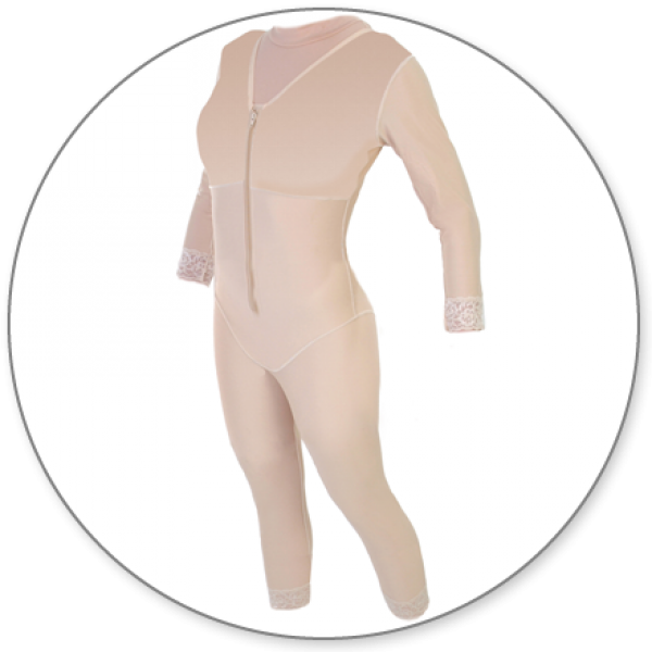 Contour MD Compression Body Shaper Ankle With Sleeves - Style 29S-Ankle Body Shaper-Contour MD-Beige-XS-PlasticSurgeryShop