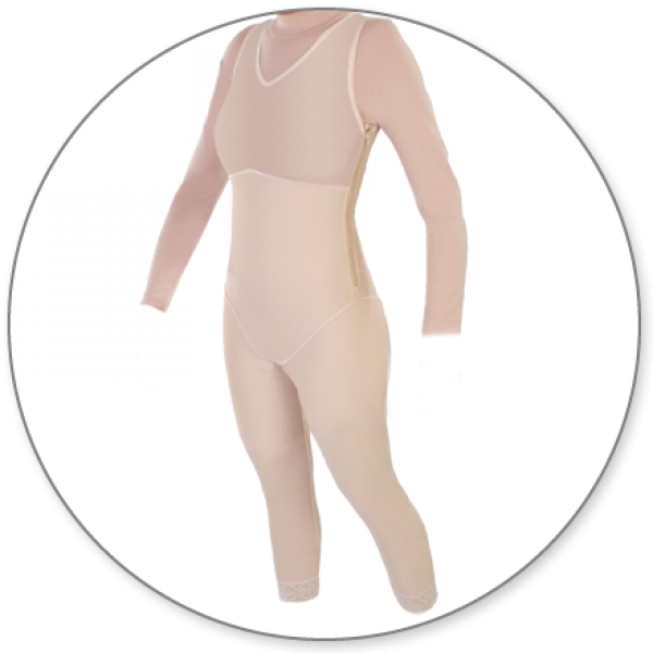 Contour MD Ankle Length Body Shaper With Side Zippers - Style 29Z-Ankle Body Shaper-Contour MD-Beige-XS-PlasticSurgeryShop
