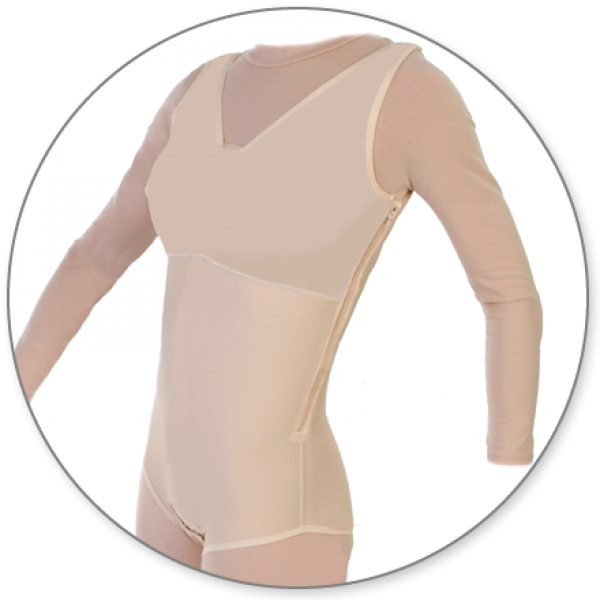 Contour MD Brief Body Shaper With Side Zipper Closed Crotch - Style32Z