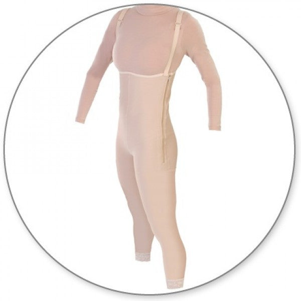 Contour MD Ankle Body Garment Side Zippers Slit Crotch - Style 36Z