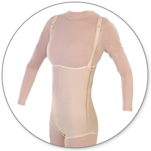 Contour MD Brief Body Garment Side Zippers With Suspenders - Style 37Z