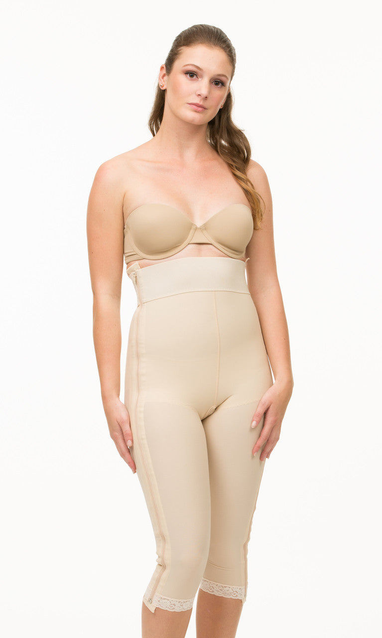 ISAVELA High Waist Abdominal Below Knee Compression Girdle With Seperating Zipper(GR05-SZ)