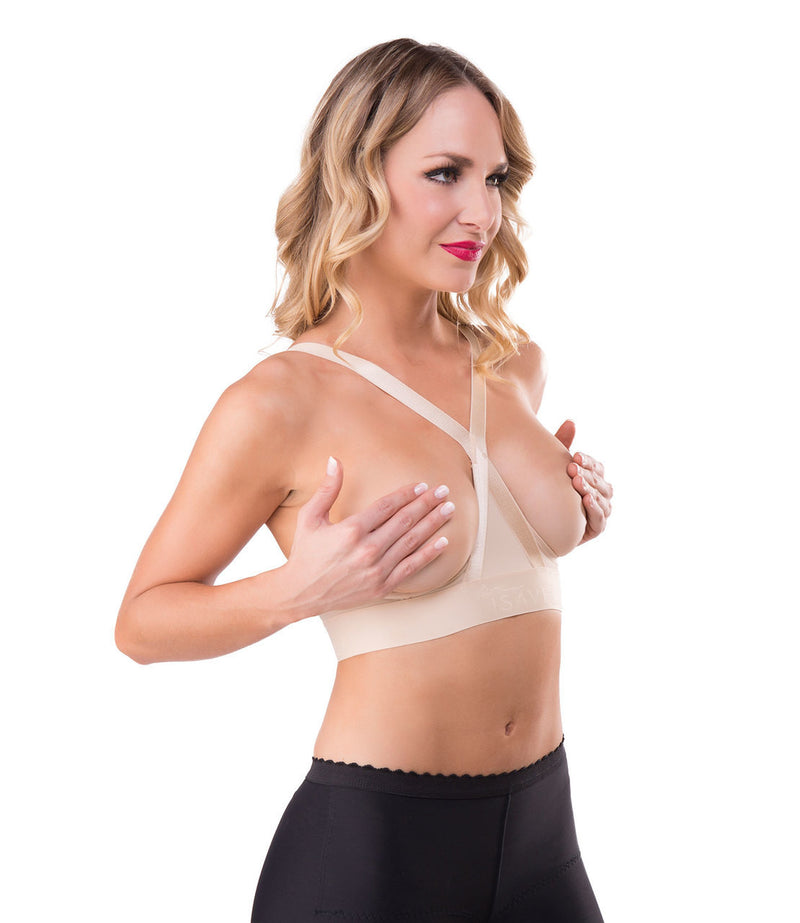 ISAVELA Sternum Compression And Symmastia Prevention Bra (BR00)*-Panel Bra-Isavela-XS-Black-PlasticSurgeryShop