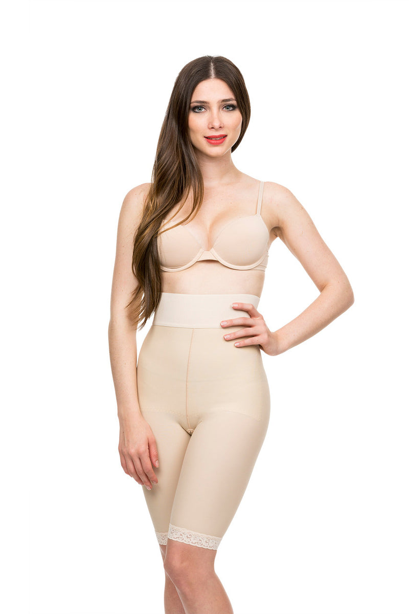 ISAVELA 2nd Stage High Waist Abdominal Above Knee Compression Girdle (GR04)