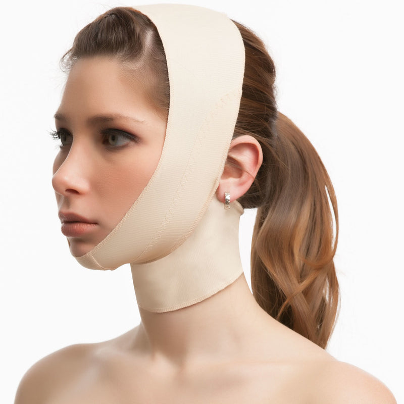 ISAVELA Chin Strap Support Compression Garment W/ Medium Neck Support (FA02)