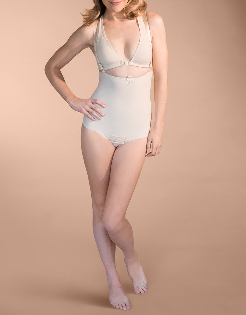 MARENA RECOVERY Style FBA | Panty-Length Girdle with Suspenders