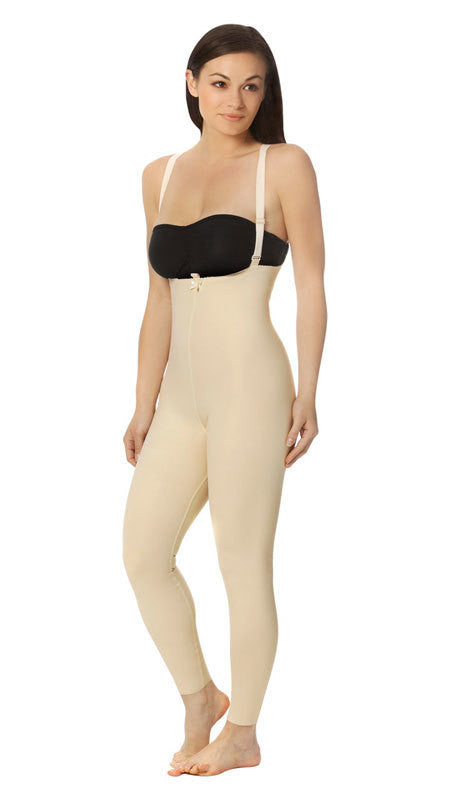 MARENA RECOVERY Style FBL2 | Ankle-Length Girdle with Suspenders - Zipperless