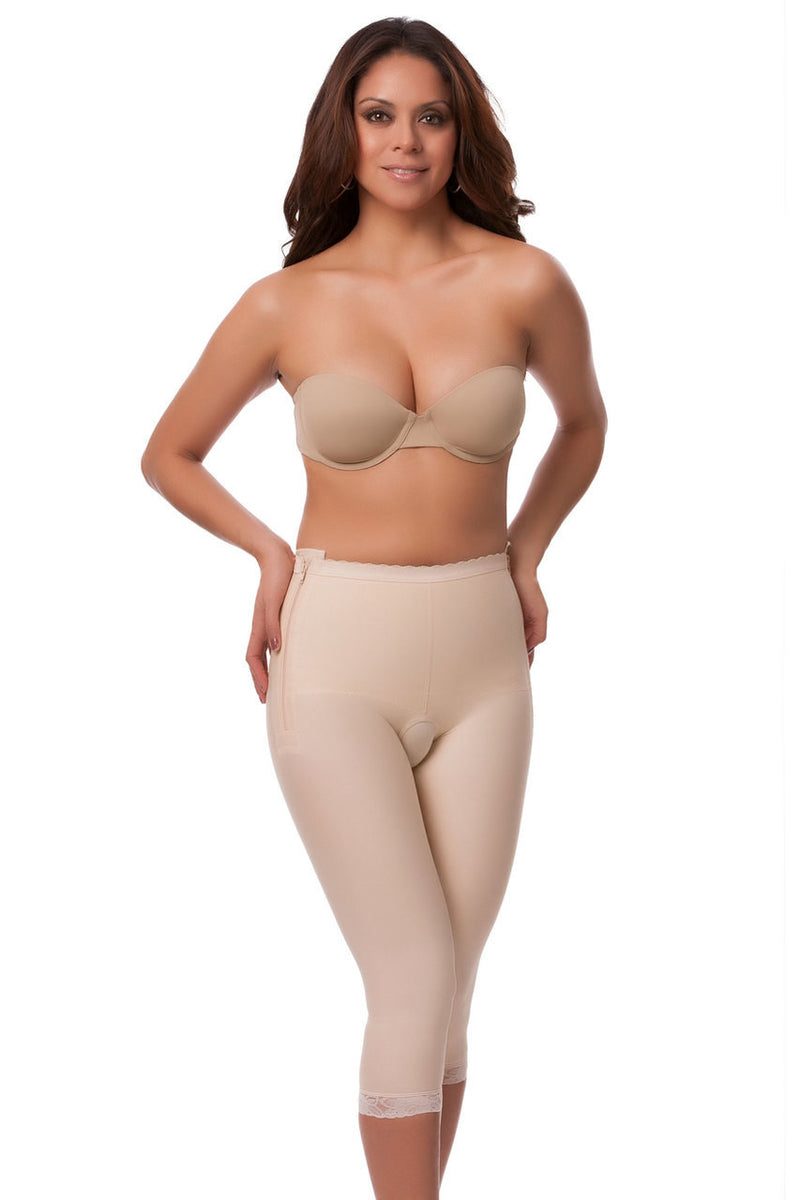 ISAVELA Low Waist Abdominal Below Knee Compression Girdle W/Zipper On Both Sides (GR13)
