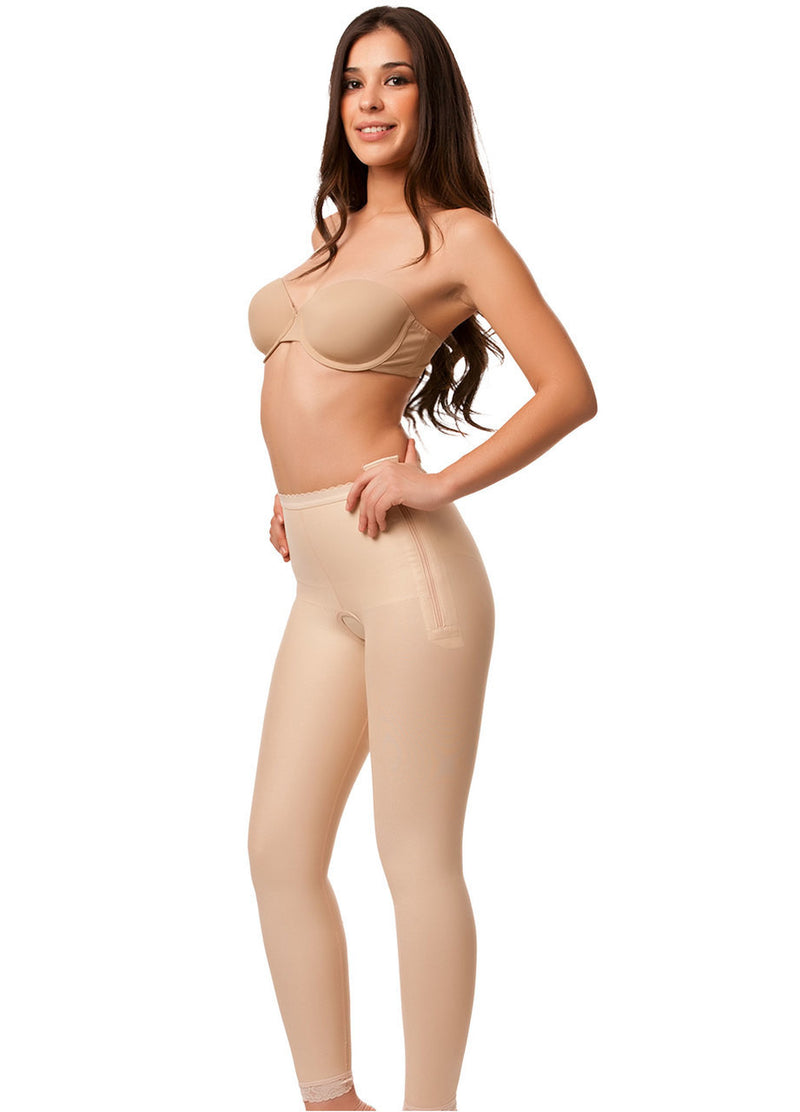 ISAVELA Low Waist Abdominal Ankle Length Compression Girdle W/Zipper On Both Sides (GR15)