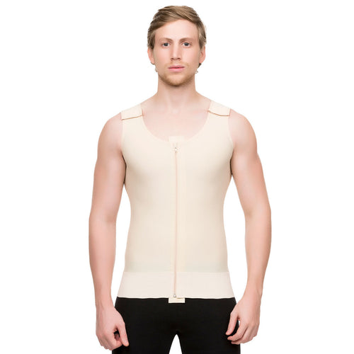 ISAVELA Male Abdominal Cosmetic Surgery Compression Vest W/Zipper (MG03)